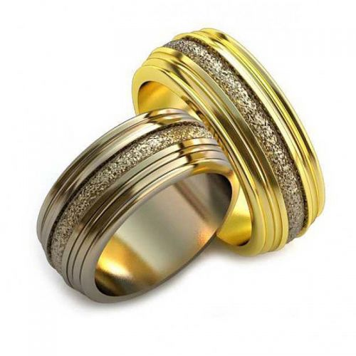 """кольца """"Amantium"""" в лимонном и белом золоте"""