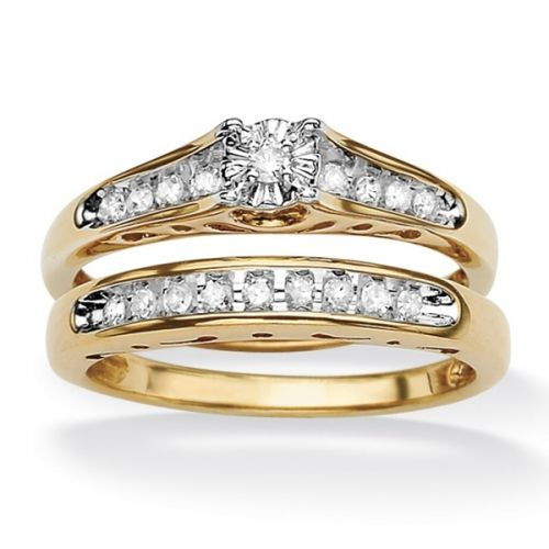 двойное кольцо сет для невесты