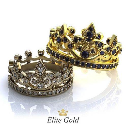 кольца-короны, усыпанные камнями