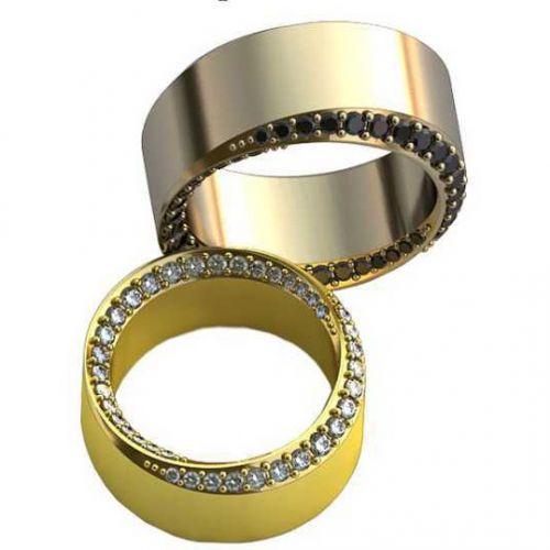 обручальные кольца с дорожкой камней