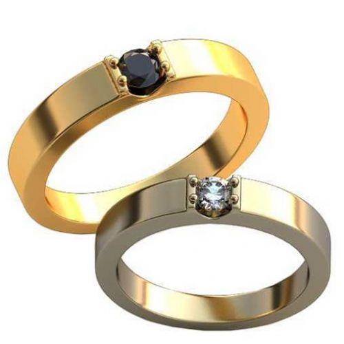 обручальные кольца с круглыми камнями