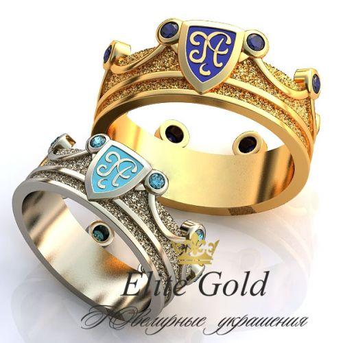 обручальные кольца корона с гербом