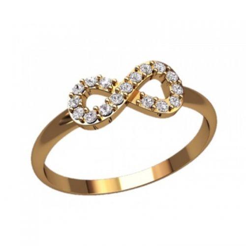 Женское кольцо бесконечность с камнями