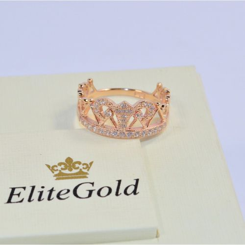 широкое кольцо корона