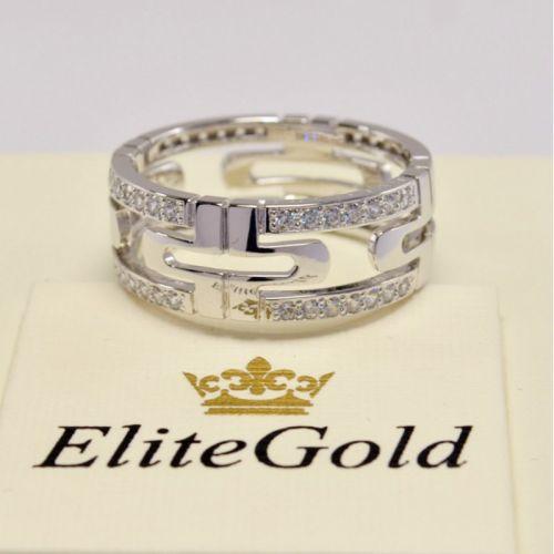 кольцо bvlgari parentesi с камнями в белом золоте реальное фото
