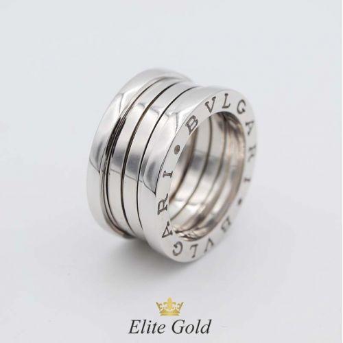 кольцо булгари реплика в белом золоте 4 спирали без камней