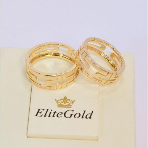 кольцо bvlgari parentesi без камней в лимонном золоте пара