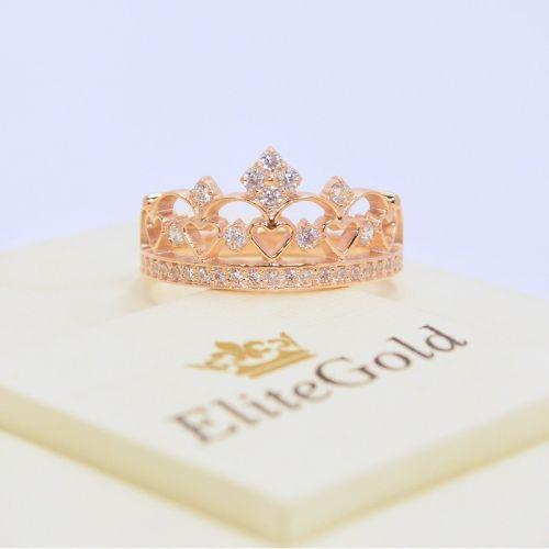 кольцо корона с камнями