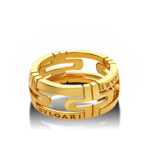 кольцо bvlgari parentesi без камней в лимонном золоте