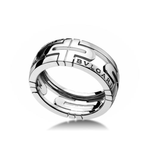 кольцо bvlgari parentesi без камней в белом золоте