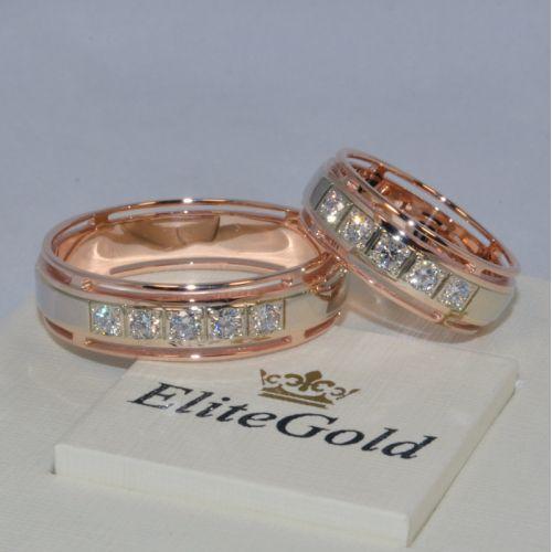 Обручальные кольца 1013/2,25 с бортами с пластиной посередине