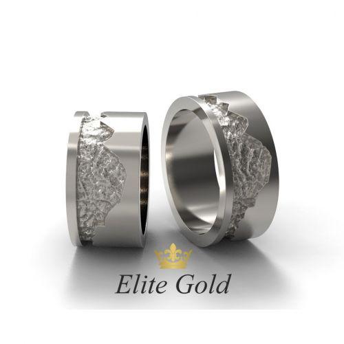 обручальные кольца с рисунком горы