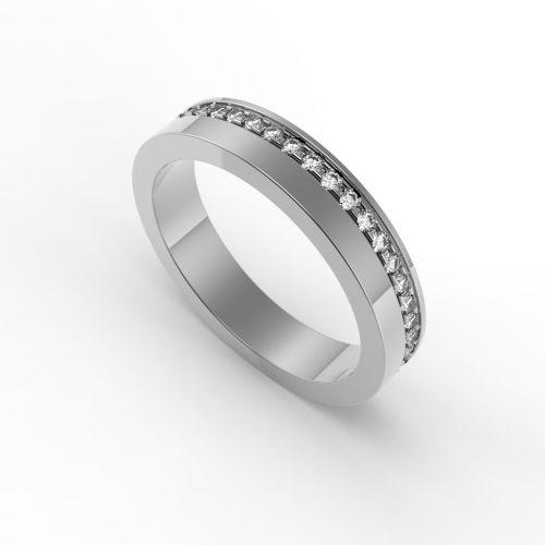 женское классическое кольцо с камнями по всему ободку