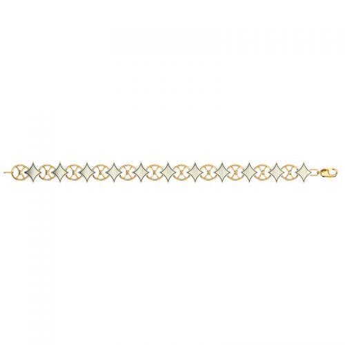 женский гибкий браслет с ромбами подробно