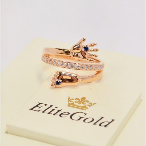 кольцо на рождение ребенка в красном золоте