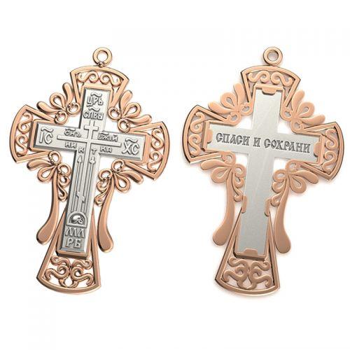 православный крест с узорами