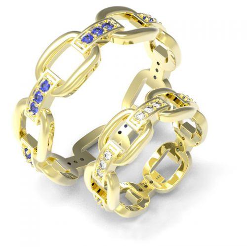 кольца обручальные в виде цепей