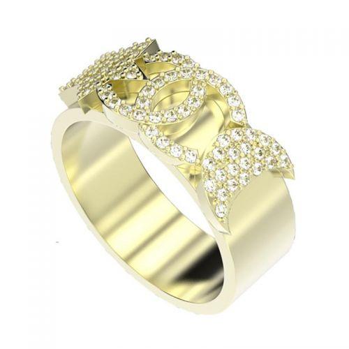 кольцо в стиле коко шанель