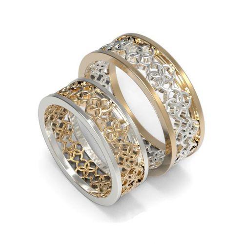 обручальные кольца с орнаментом свадебник
