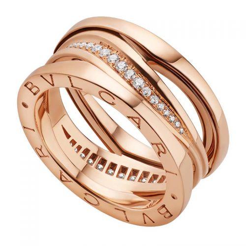 кольцо в стиле Bvlgari Legend Ring с камнями