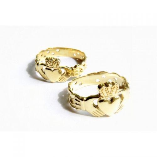 кладдахское ирландское кольцо без камней с плетением пара