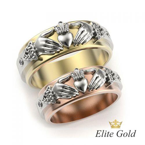 кладдахские обручальные кольца пара