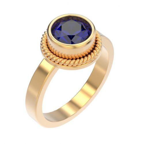 авторское кольцо с большим центральным камнем
