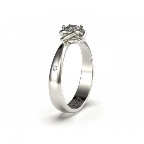 женское кольцо мира вид сбоку