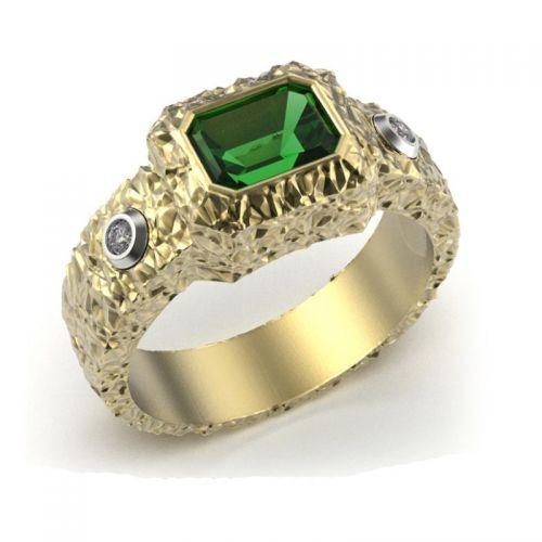 кольцо мужское с рельефом