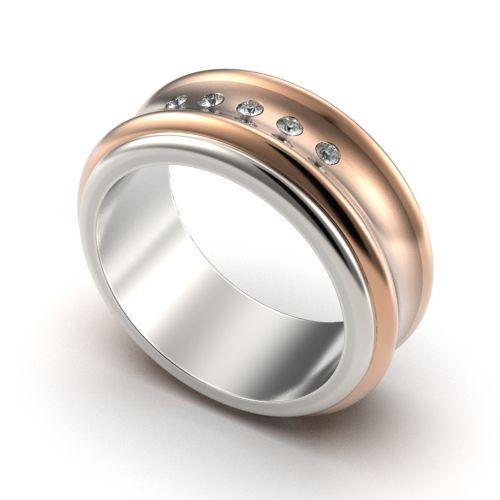 женское авторское кольцо вогнутое
