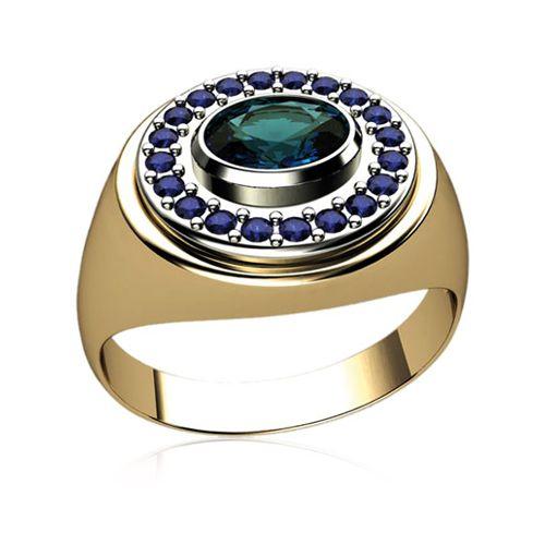 Мужской перстень с овальным камнем в центре