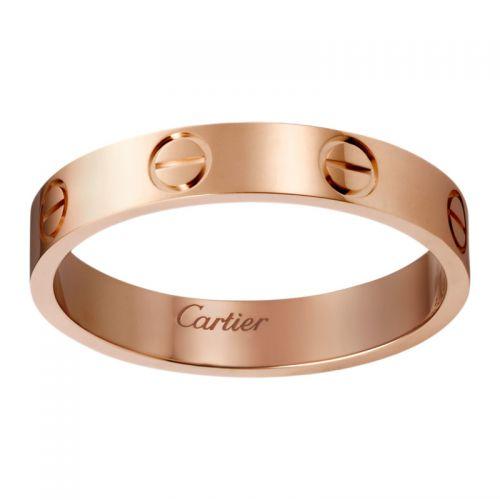 Кольцо в стиле Cartier Love Small в красном золоте