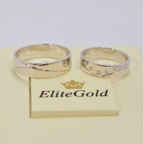 обручальные кольца с бриллиантами в белом золоте
