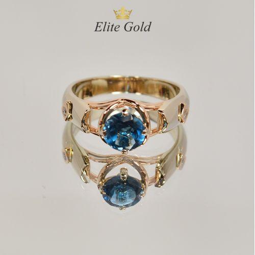 Кольцо Siren с топазом London Blue