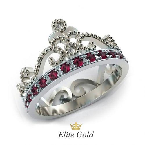 кольцо Cronprincess с бриллиантами и рубинами