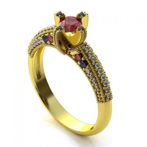 фантазийное женское кольцо на помолвку