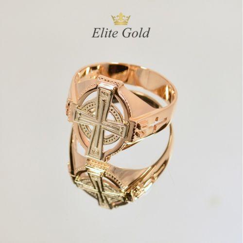 кольцо в красном и белом золоте