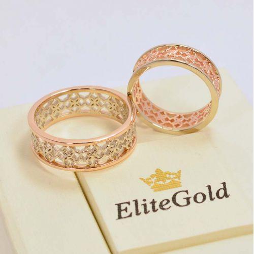 кольца Свадебник в красном и белом золоте