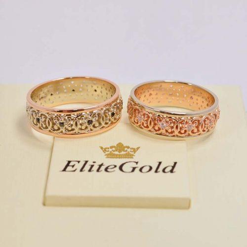 Кольца Malena в красном и белом золоте