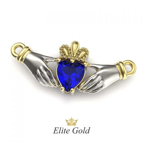 подвеска Red Heart с синим камнем