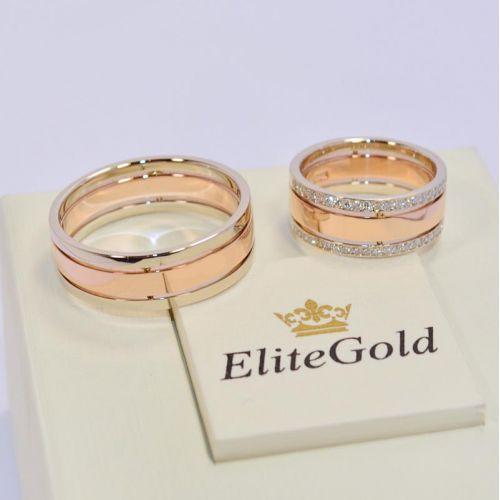 кольца Only Love в красном и белом золоте
