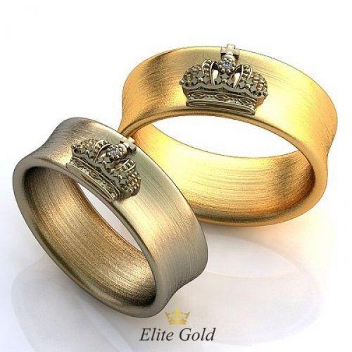 """кольца-короны """"Divide et Impera"""" с матированием"""