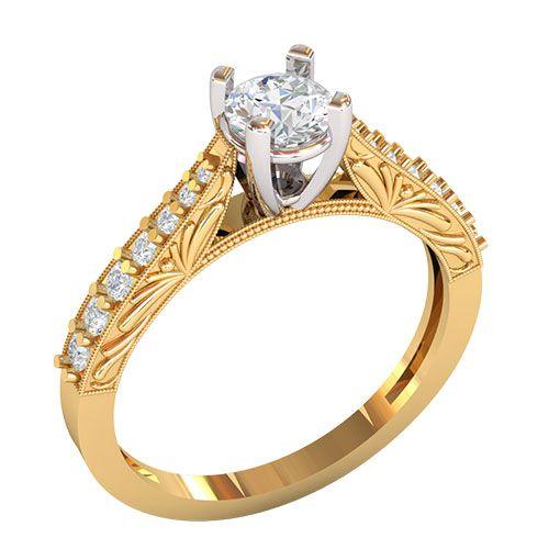кольцо Cadelaria в красном и белом золоте