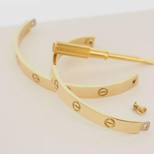 Браслет в стиле Cartier с отверткой в лимонном золоте
