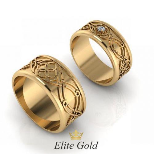 Кольца Свадебник в красном золоте
