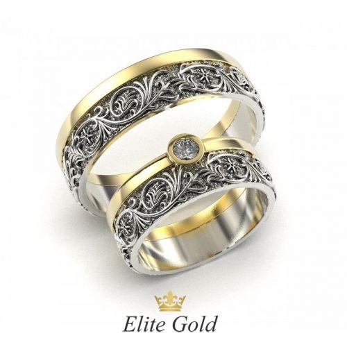 кольца Verena в лимонном и белом золоте