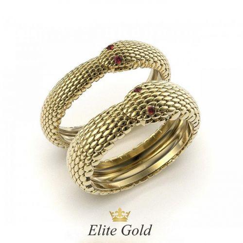 """обручальные кольца """"Ouroboros"""" в виде змеи"""