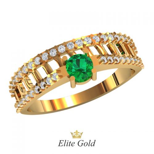 кольцо Vinata с зеленым камнем
