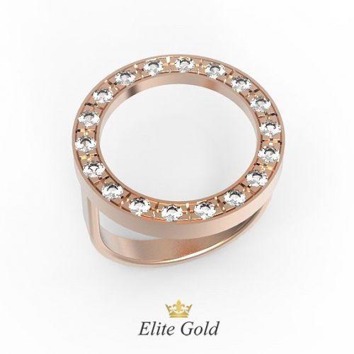 кольцо Valterra в красном золоте с белыми камнями