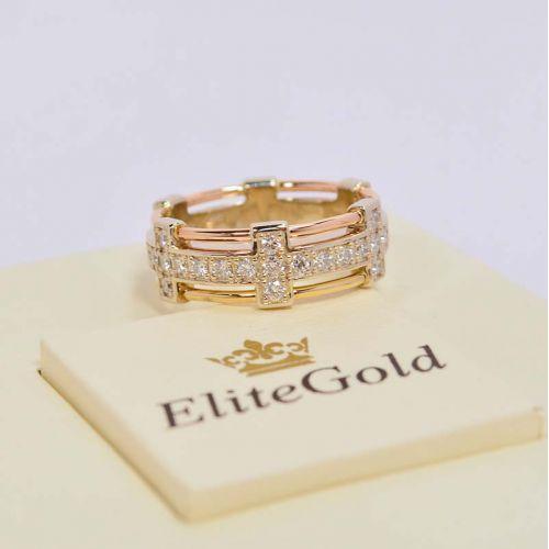 женское кольцо Love is Eternal в трех цветах золота